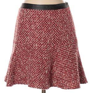 Hinge Tweed Fit & Flare Skirt